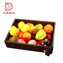 Caja de comida de fruta desechable al por mayor disponible con el embalaje del divisor