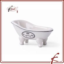 Plato de jabón blanco de la porcelana de la belleza única del diseño 2015