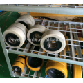 Wheels for electric stacker and pallet truck including PU nylon and rubber