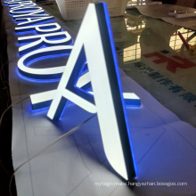 Acrylic Custom led 3d letters sign out door design letters for store restaurant business logo