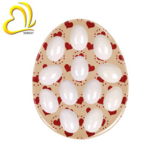 wholesale dishwasher safe easy clean plastic melamine egg tray