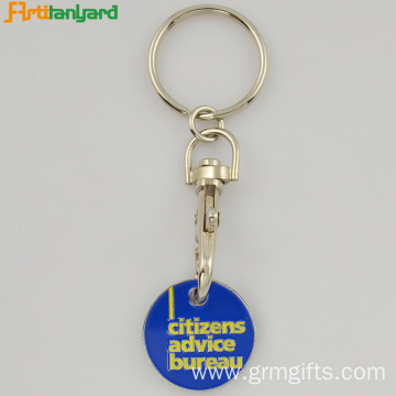 Trolley Key Chain With Soft Enamel