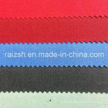 Tecido de sarja de algodão grosso de poliéster de cor sólida