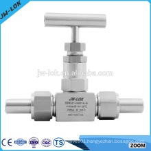 Top selling mini tube end needle valve