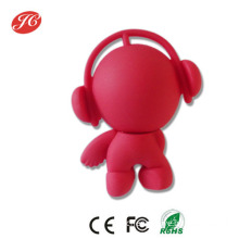 Cute Music Man Style USB 2.0 Flash Drive Red / White