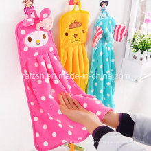 Creative Super-Absorbent Towel Cartoon Flannel Square Kitchen Towel Hanging Towel