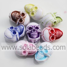 PriceList for for China Evil Eye Beads,Bone Skull Beads,Plastic Acrylic Skull Beads Factory Wholesale 14*21MM Necklace Skull Shaped Charm Bead export to Malta Supplier