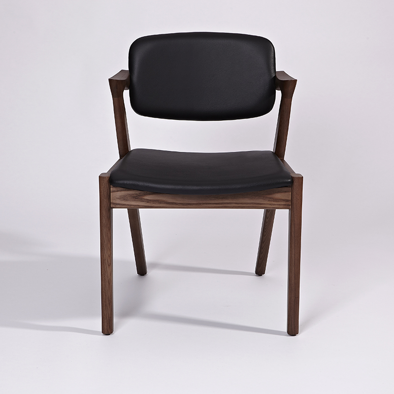 Genuine leather dining chair