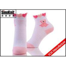 Stripe Little Bear Cotton Comfortable Wear Non Slip Kids So