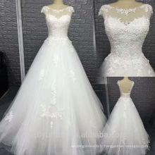 2017 nouvelle robe de mariée en manche sans manche moderne A-line