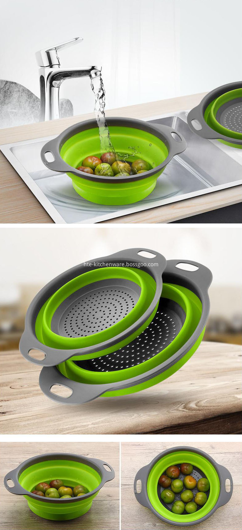 plastic handle kitchen strainer