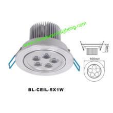 5W LED de luz LED Downlight LED de luz de techo