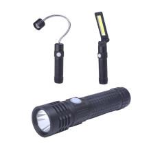 Lampe-torche menée magnétique multifonctionnelle 3 en 1