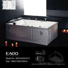EAGO 1.8M Acrylic Corner Massage Bathtub (AM124)