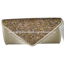Fashion Evening Bag, Shining Sequin Flap, Soft Cotton Body, Popular Chic Style