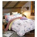 Baumwollgewebe 40s / 133 * 72 reaktive bedruckte Elefanten Tier-Designs Bettlaken-Set Bettbezug-Set