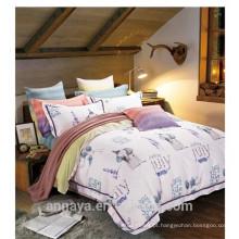 Tecido de algodão 40s / 133 * 72 reativos impresso elefantes animal desenhos cama folha set duvet cover set