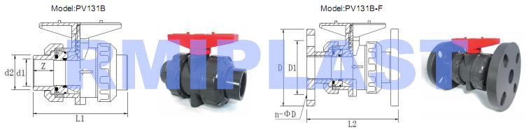 Pvc True Union Ball Valve