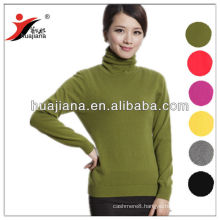 flat knitting women's cashmere sweater turtleneck