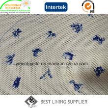 100% poliéster adorável animal padrão impressão forro com alta qualidade