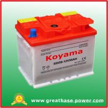 A alta qualidade seca a bateria carregada DIN55-12V55ah de SMF