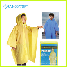 Disposbale Barato amarelo PE Raincoat (RVC-140)