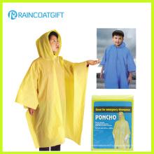 Disposbale barato capa de chuva amarela PE (RVC-140)