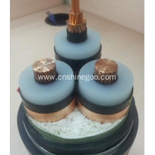 Fluoroplastics insulated electrical power cable