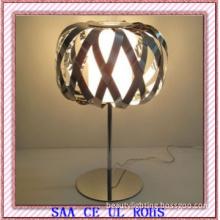 2013 Acrylic Shade and Chrome Iron Desk Lamp