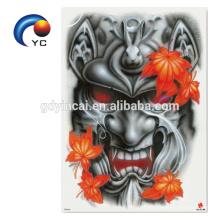 Legal e Sex Back Tattoo Sticker para homens com etiqueta do dragão