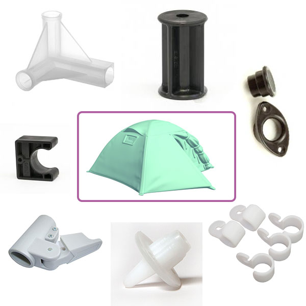 Abs Pp Ps Plastic Tent Components Tent