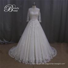 Vestido de novia blanco de encaje