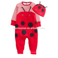 2017 spring design animal baby romper long lseeve panda baby bubble romper wholesale