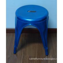 Round Seat Blue Color Metal Tolix Chair (SM-1025D)
