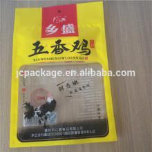 500g chicken plastic packaging bag/ bopp food packaging bag/laminated plastic food bag