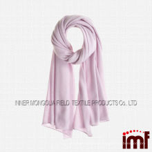 Wholesale Plain Color Lilac Quality Knitted Cashmere Shawl Scarves for Female
