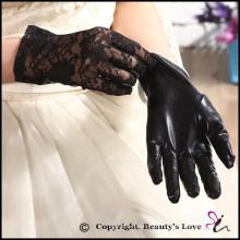 Acessórios de Casamento de Amor da Beleza Sexy Women Lace Fabric Satin Gloves