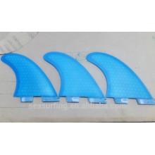 Nueva tendencia moda color azul puro aletas G5 FCS II aleta de nido de abeja y fibra de vidrio