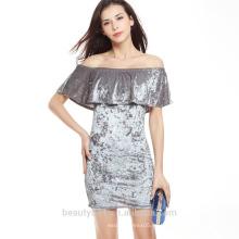 Off hombro Guangzhou sexy venta al por mayor mujeres vendaje vestido SD12