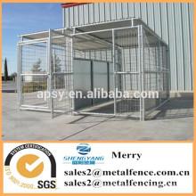 extérieur portable grand seul treillis métallique soudé clôture de chenil chien