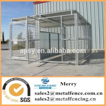 outdoor portable large single welded wire mesh dog kennel enclosure
