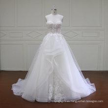 Vestido de novia sin mangas de sirena sin mangas (XF16019)