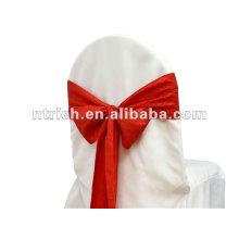 dobra de faixa de cadeira casamento tafetá esmagado para casamento