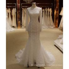 Русалка Иллюзия Шеи Длинным Рукавом Свадебное Платье