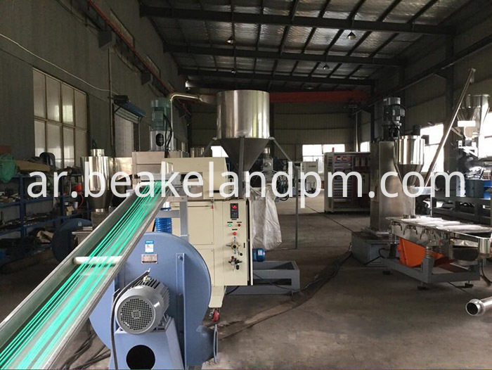PP raffia bag strand cutting granulating equipment