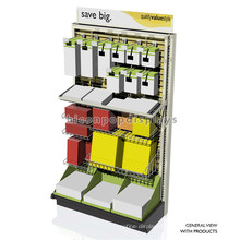 Custom Logo Wire Grid Panel Floor Standing Stationery Shop Detachable Note Book Display Stand Retail