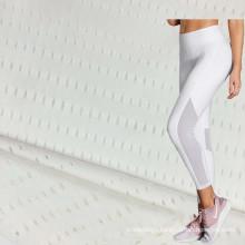 White Super Elastic Breathable Stretch Spandex Nylon Mesh Fabrics for Sports Short Sleeve