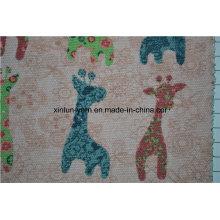 Animal Printing Kinder Kleidung Hudnred natürliche Roh-Leinen-Stoff