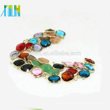 New Arrive Crystal Gemstone Pendant Connector Aquamarine Gemstone Beads for Jewelry Necklace