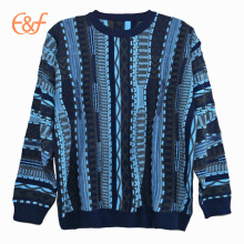 Fashion Plus Size Solid Cable Knit Sweater